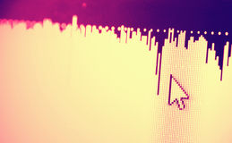 Ícone da Web na tela do diodo emissor de luz Fotografia de Stock