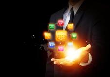 Ícone das aplicações e tecnologia moderna Fotos de Stock Royalty Free