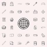 ícone das bolachas Grupo universal dos ícones da loja da padaria para a Web e o móbil ilustração royalty free