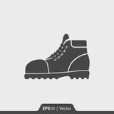 Ícone das botas de couro para a Web e o móbil Fotografia de Stock