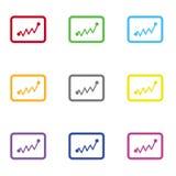 Ícone das estatísticas para a Web e o móbil foto de stock
