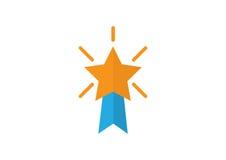 Ícone das medalhas da estrela ilustração royalty free