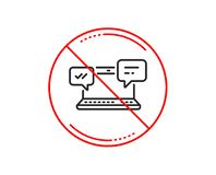 Ícone das mensagens do Internet Bate-papo ou conversação Vetor ilustração royalty free