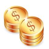 Ícone das moedas Foto de Stock Royalty Free