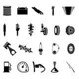 Ícone das peças de automóvel ilustração royalty free