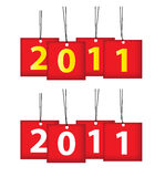 Ícone de 2011 calendários Fotografia de Stock Royalty Free