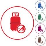 Ícone de acampamento da garrafa de gás Imagens de Stock Royalty Free