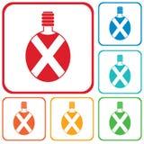 Ícone de acampamento do vetor da garrafa Imagem de Stock