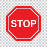 Ícone de alta qualidade do símbolo do sinal da parada Símbolo de advertência do perigo que proibe o sinal no vetor do fundo ilustração royalty free