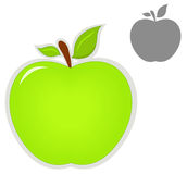 Ícone de Apple Imagens de Stock Royalty Free