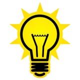 Ícone de brilho da ampola Imagens de Stock