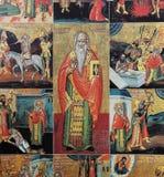 Ícone de Christian Byzantine na igreja do annuciation, Beirute, Líbano imagens de stock