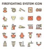 Ícone de combate ao fogo do sistema ilustração do vetor