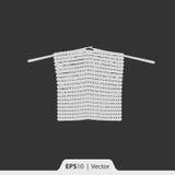 Ícone de confecção de malhas para a Web e o móbil Fotografia de Stock Royalty Free