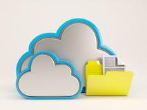 ícone de 3D Cloud Drive Imagens de Stock