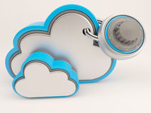 ícone de 3D Cloud Drive Ilustração Stock