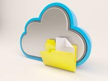 ícone de 3D Cloud Drive Imagens de Stock Royalty Free