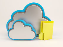 ícone de 3D Cloud Drive Foto de Stock