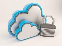 ícone de 3D Cloud Drive Fotografia de Stock