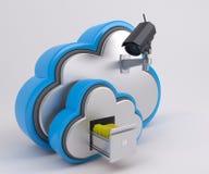 ícone de 3D Cloud Drive ilustração do vetor