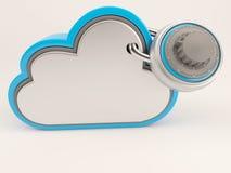 ícone de 3D Cloud Drive Foto de Stock Royalty Free