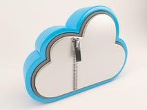 ícone de 3D Cloud Drive Imagem de Stock Royalty Free