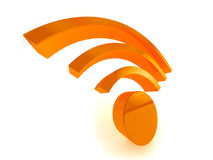 ícone de 3d Wifi Foto de Stock Royalty Free