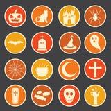 Ícone de Dia das Bruxas Imagem de Stock