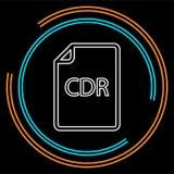 Ícone de documento dos CDR da transferência - formato de arquivo do vetor ilustração royalty free