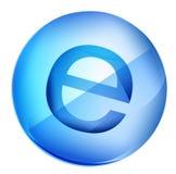 Ícone de E Imagem de Stock Royalty Free