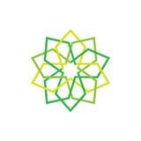 Ícone de Eco Símbolo abstrato verde Ilustração do vetor isolada no fundo claro Projeto gráfico da forma Conceito da beleza viv Fotografia de Stock Royalty Free
