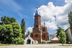 Ícone de Eletskaya da mãe da igreja do deus na cidade de Yelets imagem de stock