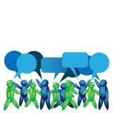 Ícone de fala dos povos Ilustraçãode no formato do vetor Imagem de Stock Royalty Free