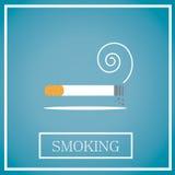 Ícone de fumo Fotografia de Stock