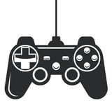 Ícone de Gamepad - manche do console do jogo Foto de Stock Royalty Free