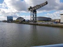 Ícone de Glasgow do guindaste de Finnieston Fotos de Stock Royalty Free