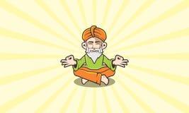 Ícone de Guru Meditation Logo Vetora ilustração do vetor