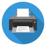Ícone de impressora fotografia de stock