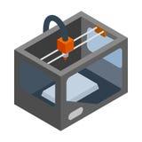 ícone de impressora 3d, estilo 3d isométrico Foto de Stock