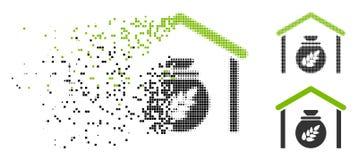 Ícone de intervalo mínimo fragmentado do armazenamento da grão de Pixelated ilustração royalty free