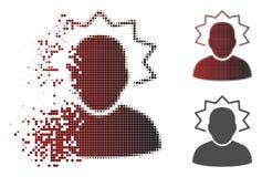 Ícone de intervalo mínimo pontilhado fragmentado da emergência do usuário ilustração stock