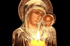 Ícone de Kazan da matriz do deus Foto de Stock