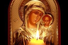 Ícone de Kazan da matriz do deus Imagens de Stock