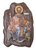 Ícone de madeira de Nicholas de Saint Fotos de Stock Royalty Free