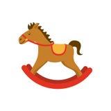 Ícone de madeira do brinquedo do cavalo Imagem de Stock