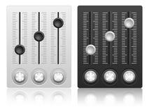 Ícone de mistura do console Fotografia de Stock