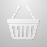 Ícone de papel do carrinho de compras Ilustração do Vetor