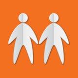 Ícone de papel dos povos Imagens de Stock Royalty Free