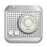 Ícone de rádio do app Imagem de Stock