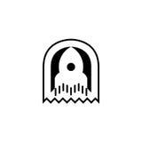 Ícone de Rocket Molde do logotipo ilustração do vetor